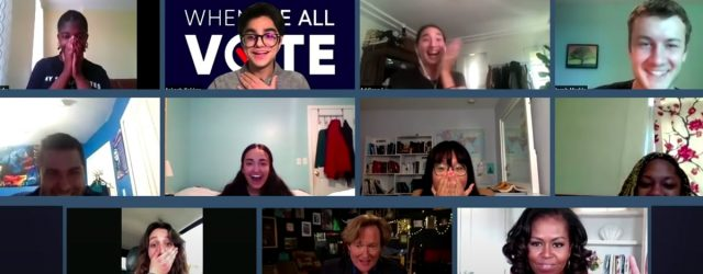 Please Enjoy Michelle Obama and Conan O'Brien Crashing a Zoom Call For Voting Volunteers