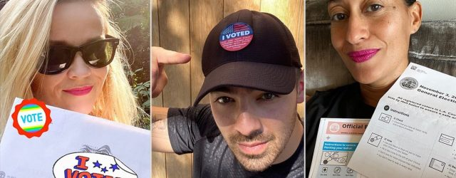 Celebrities Showing Off Their Early Voting Action Is the Civic Energy We Love to See