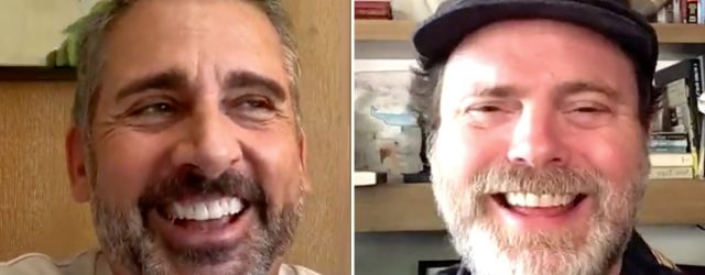 Nothing Made Me Smile Today Like This Wholesome Steve Carell and Rainn Wilson Reunion Video