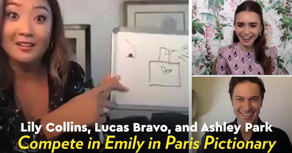 We Challenged Lily Collins, Lucas Bravo, and Ashley Park to a Game of Emily in Paris Pictionary