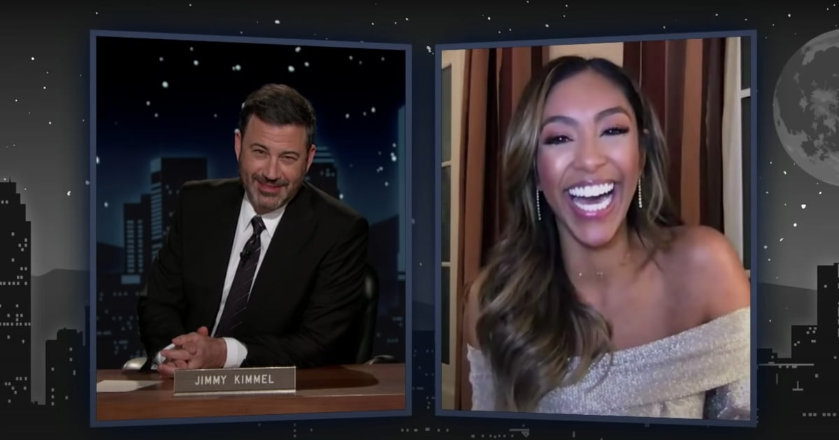 Honestly, Tayshia Adams's Interview With Jimmy Kimmel Proves She's the Cutest Bachelorette