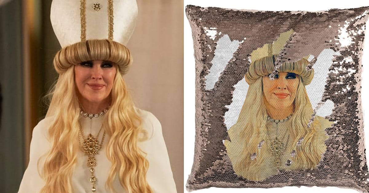 Hush Now, Bébés —Lay Your Heads to Sleep on This Sequin Moira Rose Pillow From Etsy