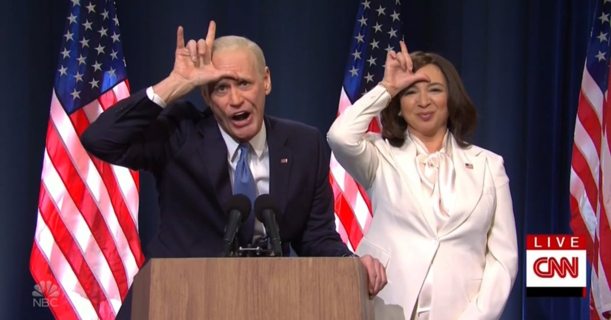 SNL: Jim Carrey and Maya Rudolph Celebrate Election Win With a Little Dancing and Gloating