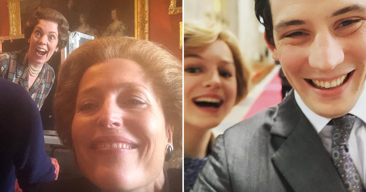 These Photos Prove the Crown Season 4 Cast Didn't Abide by the Real Royals' No-Selfie Rule