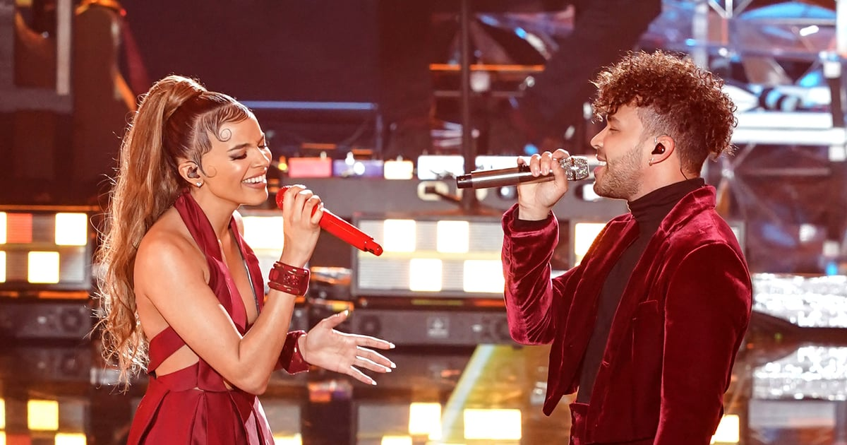 "Watch Prince Royce and Leslie Grace's Epic Cover of ""Burbujas de Amor"" at the Latin Grammys"