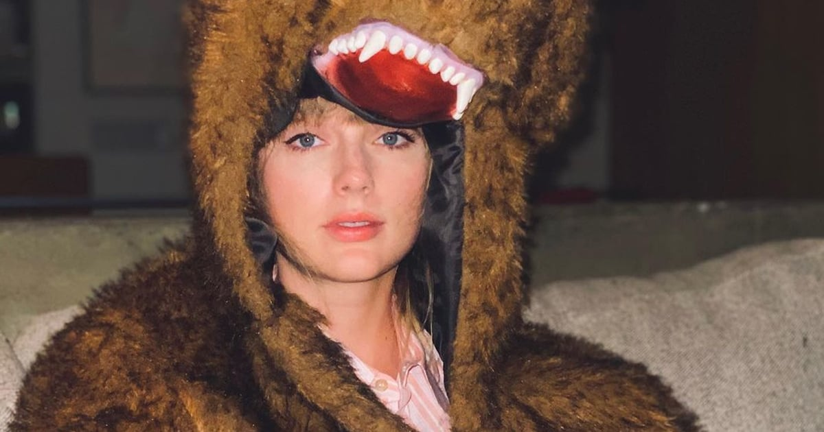 """So, Taylor Swift Ended the Year in a Fuzzy Bear Costume: """"Bye 2020, It's Been Weird"""""""