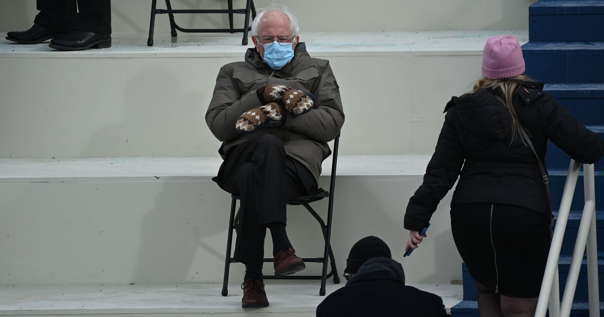 25 Relatable Moods Bernie Sanders Exuded at the 2021 Presidential Inauguration