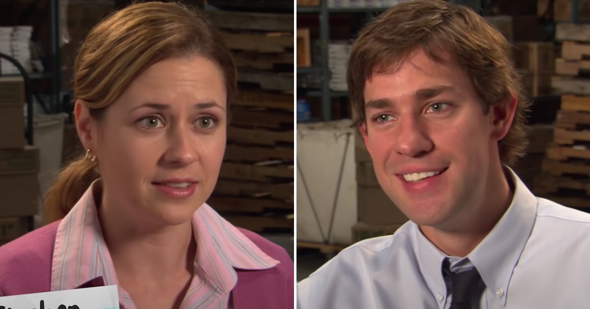 """Jenna Fischer and John Krasinski on Jim and Pam's First Kiss: """"My Stomach Was in Knots"""""""