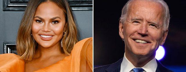 """Chrissy Teigen Asks President Joe Biden to Unfollow Her on Twitter: """"It's Not You It's Me"""""""