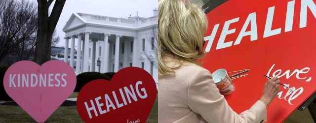 Jill Biden Spreads Love by Decorating the White House Lawn With Sweet Valentine's Day Hearts