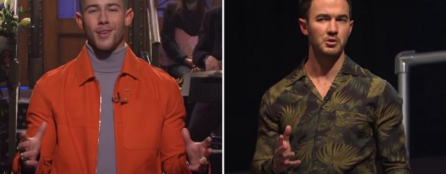 """Kevin Jonas Crashed Nick's SNL Monologue to Finally Get an Answer: """"Are We Still a Band?"""""""
