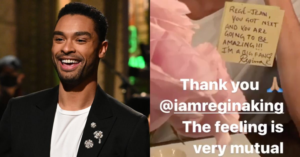 Regina King Followed in Dan Levy's Footsteps and Left a Sweet Note For Regé-Jean Page at SNL
