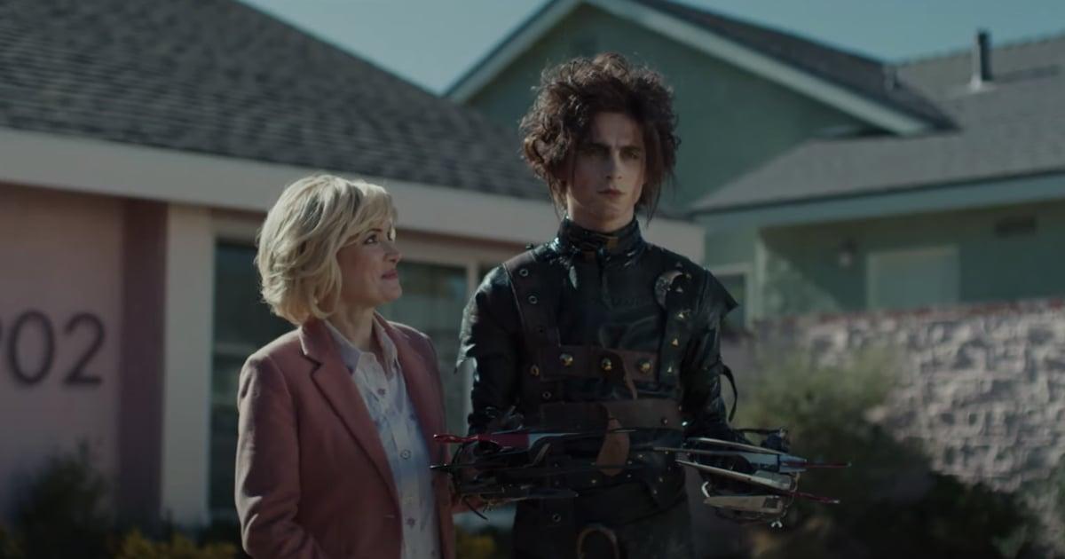 We Now Need an Edward Scissorhands Sequel, Thanks to This Timothée Chalamet Super Bowl Ad