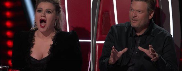 "Here's the Hilarious Reason Blake Shelton Says Kelly Clarkson Is Adam Levine's ""Arch-Nemesis"""