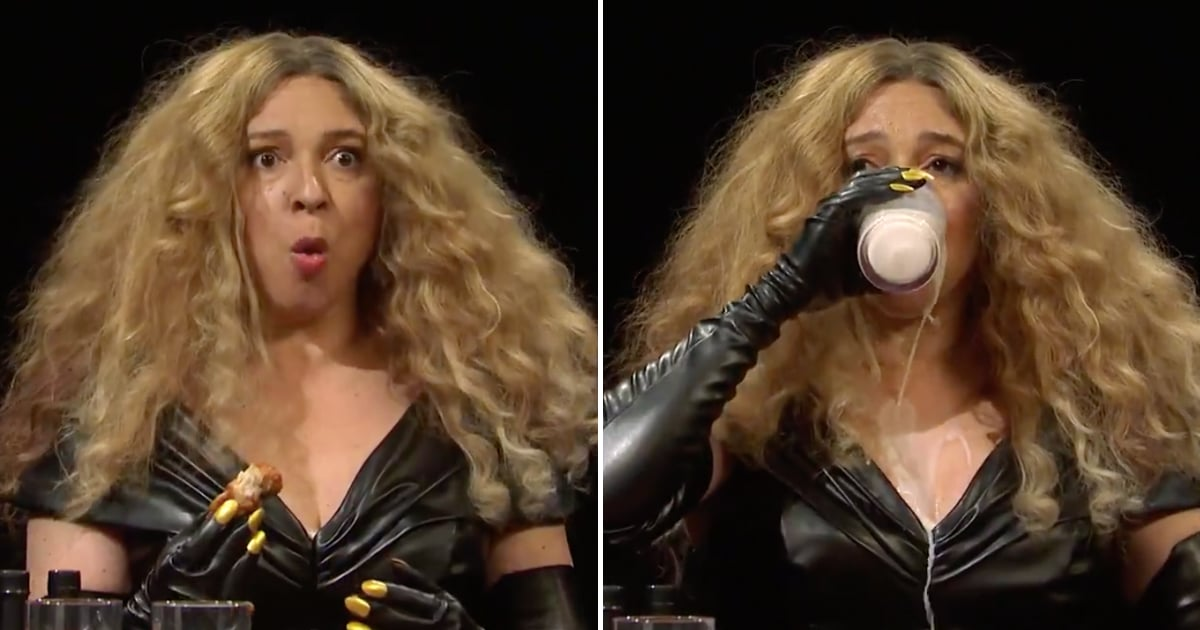 My Ribs Hurt From Laughing Over Maya Rudolph as Beyoncé in SNL's Hot Ones Skit