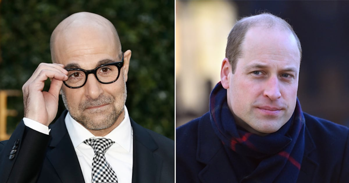 """Stanley Tucci and Dwayne Johnson Jokingly Protest Prince William's """"Sexiest Bald Man"""" Title"""