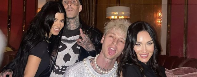 Machine Gun Kelly's Birthday Turned Into a Double Date With Megan Fox, Kourtney, and Travis