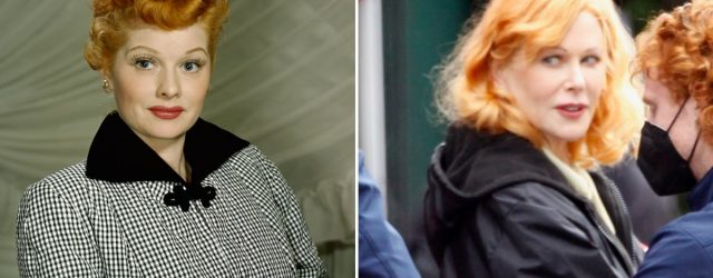 Nicole Kidman Dons Lucille Ball's Signature Red Hair on Set of Being the Ricardos