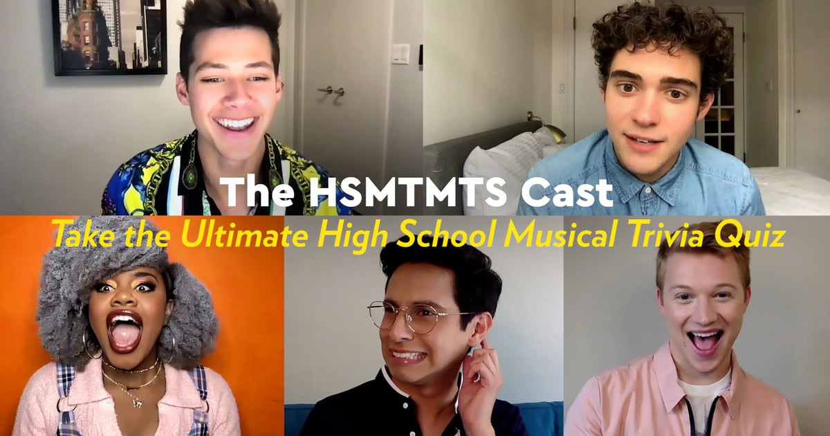 The HSMTMTS Cast Get *Pretty* Competitive as They Play High School Musical Trivia