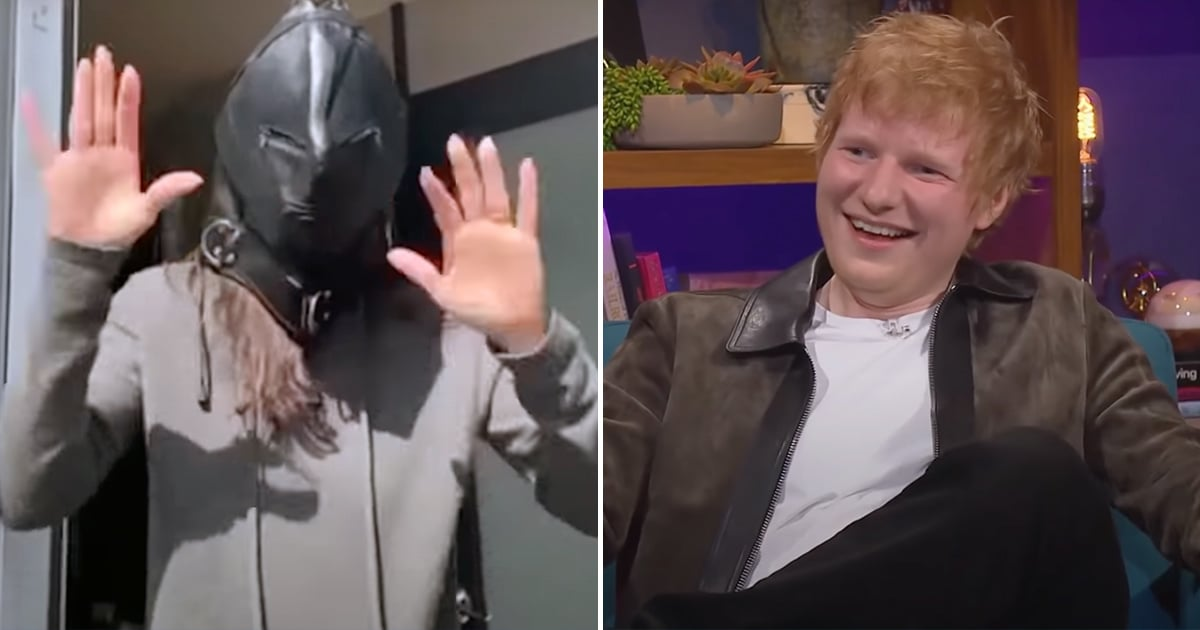 Ed Sheeran Can't Stop Pranking Courteney Cox With This NSFW Mask