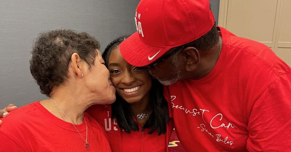 Simone Biles's Parents Show Off Their Support in Matching Shirts, but Her Caption Is the Sweetest