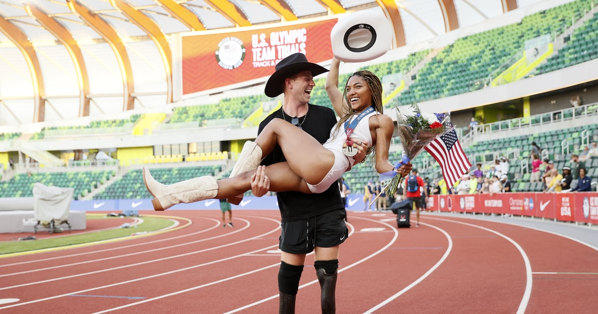 We Can't Stop Smiling at These Sweet Photos of Tara Davis and Hunter Woodhall