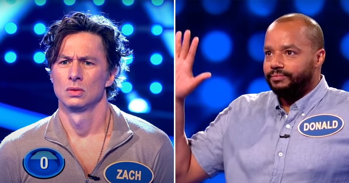 Zach Braff and Donald Faison Just Battled Their Scrubs Nemesis on Celebrity Family Feud