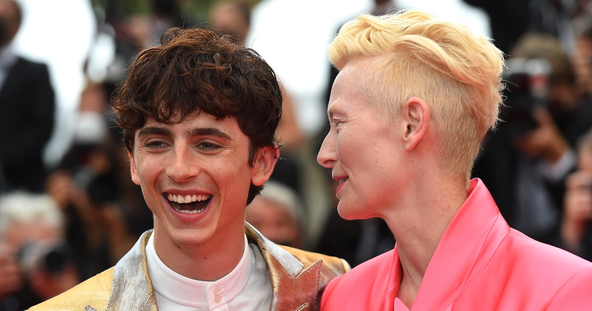 I'm Still Giggling Over the Sneaky Prank Tilda Swinton Pulled on Timothée Chalamet at Cannes