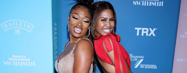 Please Enjoy These Pics of Megan Thee Stallion and Leyna Bloom Celebrating Their SI Covers