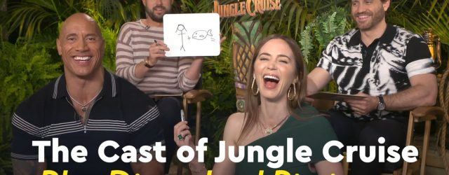 The Jungle Cruise Cast Can't Stop Laughing as They Play Disneyland Pictionary