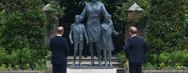 """William and Harry Honor Princess Diana's """"Love, Strength, and Character"""" With New Statue"""