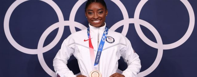 """Stars React to Simone Biles's Incredible Olympic Win: """"[She] Is a GOAT"""""""